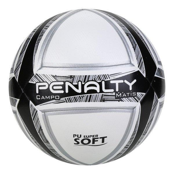 Bola de Futebol Campo Penalty Matis Duotec IX - Branco e Preto