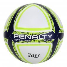 Bola de Futsal Penalty Matis Duotec IX - Branco e Marinho