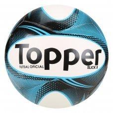 Bola Futsal Topper Slick II - Branco e Preto