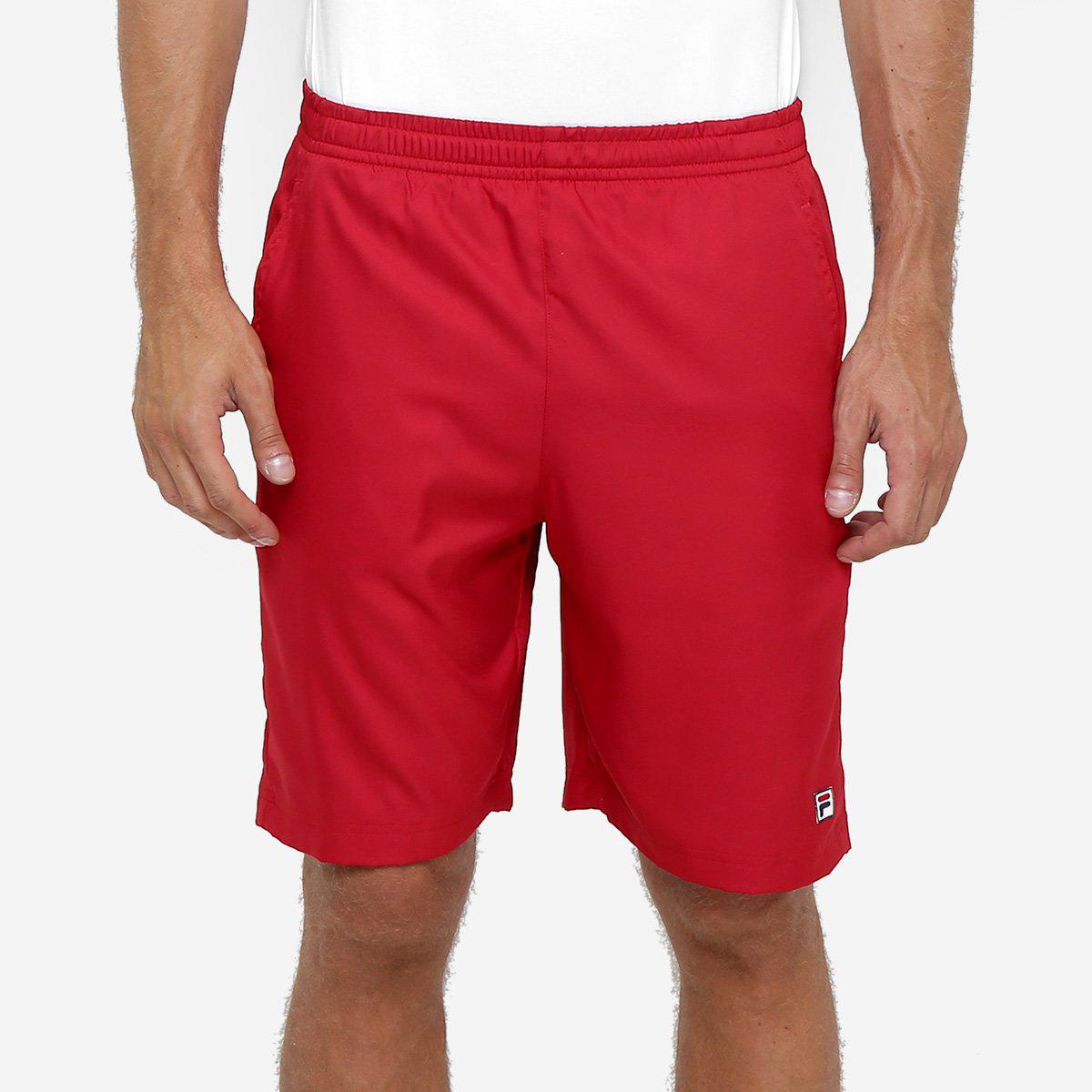 Bermuda Fila Marco Masculina - Vermelho