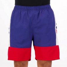Bermuda Fila Swim Sport Masculina - Marinho e Vermelho