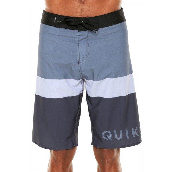 Bermuda Água Quiksilver Everyday Blocked Masculina - Cinza