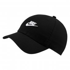 Boné Nike Sportswear H86 Futura Washed Aba Curva - Preto e Branco