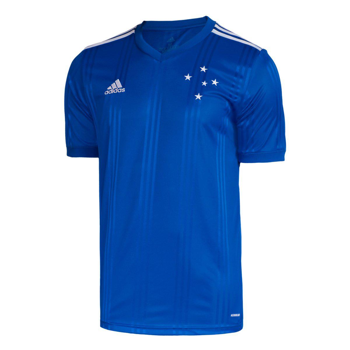 Camisa Cruzeiro I 20/21 s/nº Torcedor Adidas Masculina - Azul