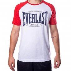 Camiseta Everlast Fundamentals Masculina - Branco e Vermelho