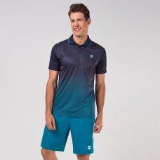 Camisa Polo Fila Aztec Box Net Masculina - Marinho