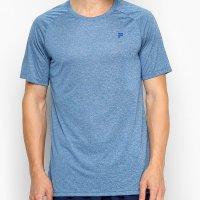 Camiseta Fila Basic Melange Masculina - Azul