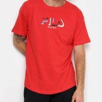 Camiseta Fila 3D Masculina - Vermelho