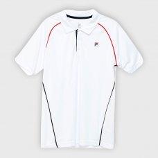 Camisa Polo Fila Cinci Masculina - Branco e Vermelho