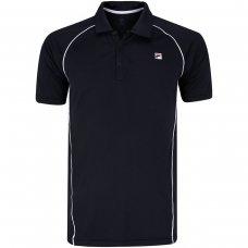 Camisa Polo Fila Cinci Masculina - Preto e Branco