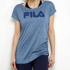 Camiseta Fila Drapped Feminina - Cinza e Azul