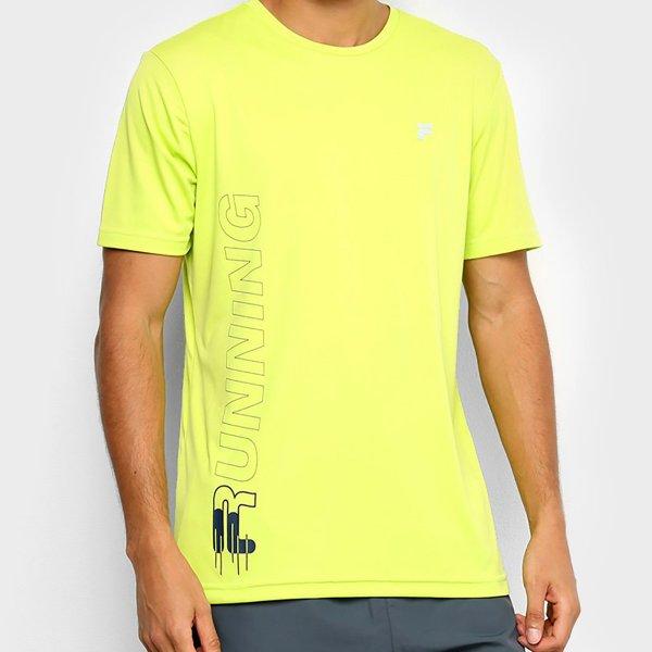 Camiseta Fila Floating F Run Masculina - Verde