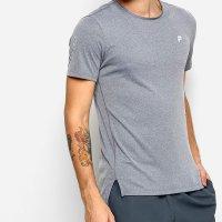 Camiseta Fila Gorpcore Assimétrico Masculina - Cinza
