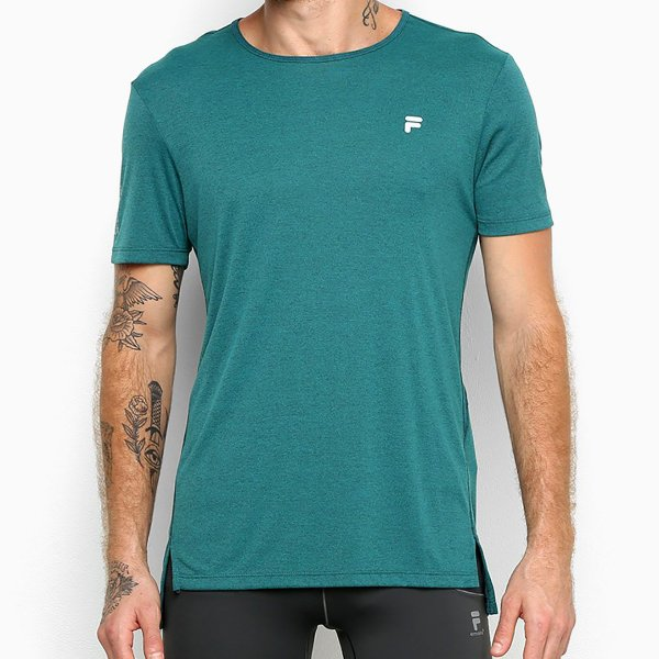 Camiseta Fila Gorpcore Assimétrico Masculina - Verde
