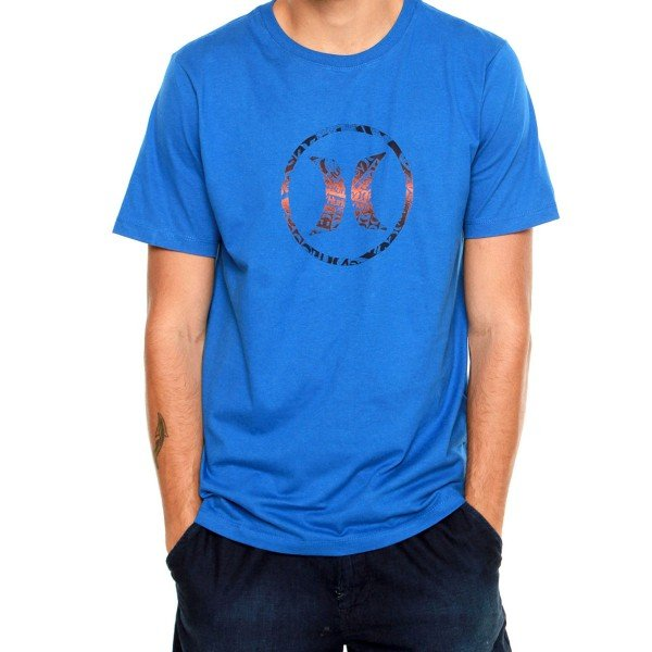 Camiseta Hurley Bp Icon Collage Masculina - Azul