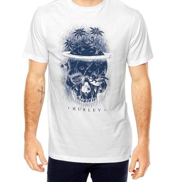 Camiseta Hurley Silk Skully Masculina - Branca