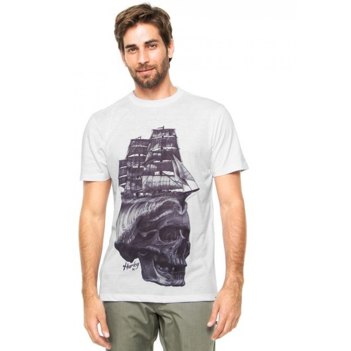 Camiseta Hurley Shiphead Masculina - Branca