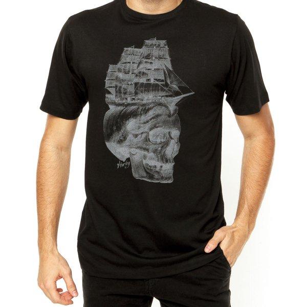 Camiseta Hurley Shiphead Masculina - Preta