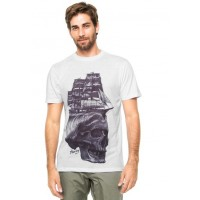 Camiseta Hurley Secret Torch Masculina - Branco  e0713c8c0d3