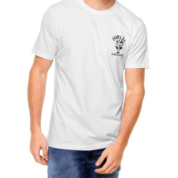 Camiseta Hurley Search e Destroy Masculina - Branco