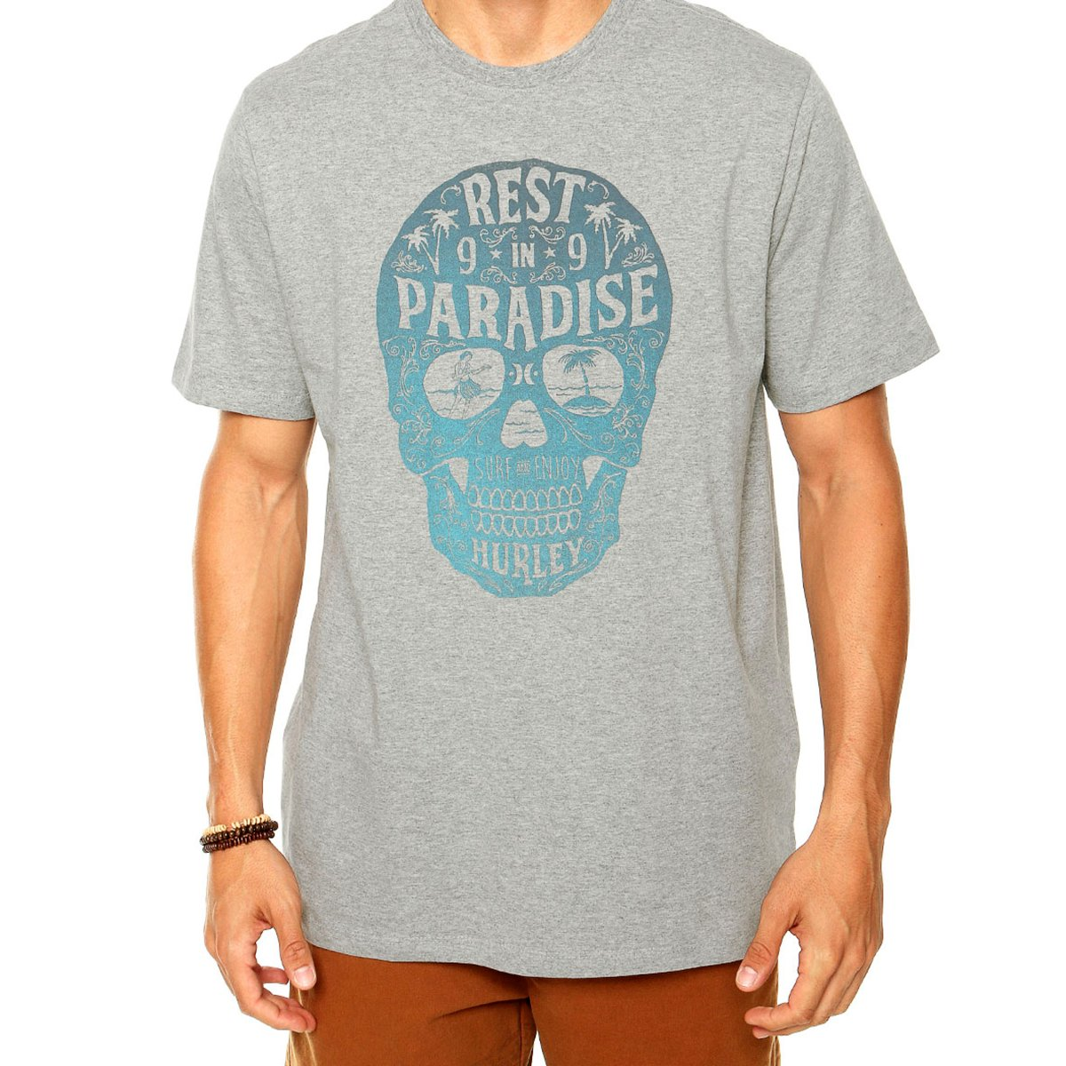 Camiseta Hurley Paradise Masculina - Cinza