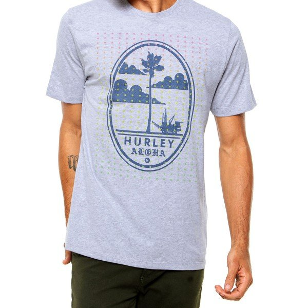 Camiseta Hurley Modern Oval Masculina - Cinza