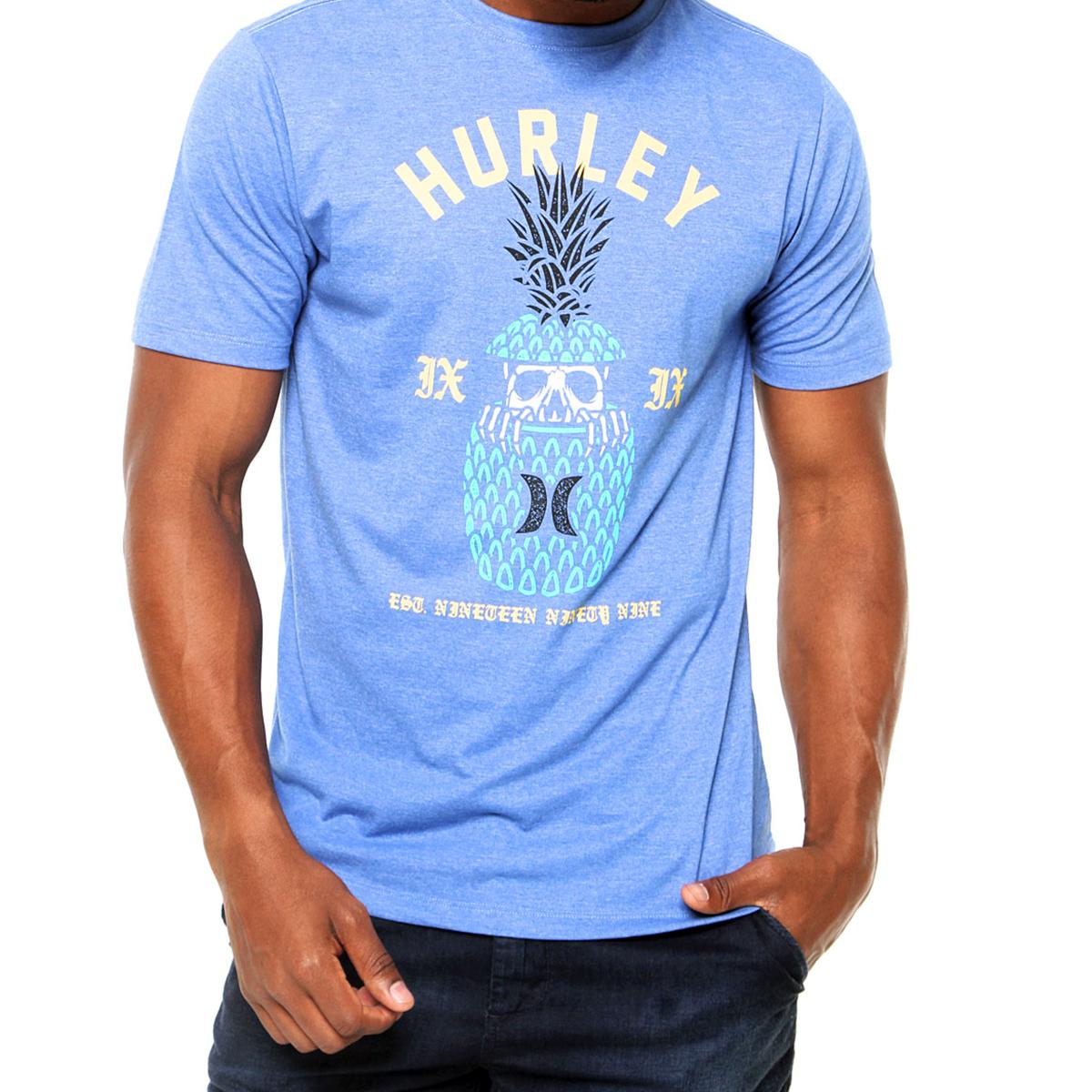 Camiseta Hurley Silk Pina Masculina - Azul