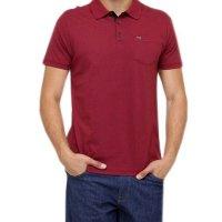 Camisa Polo Linen Hurley Masculina - Vermelho