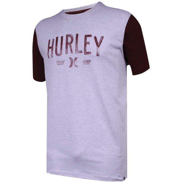 Camiseta Hurley Trade Mark Masculina - Grafite e Vinho