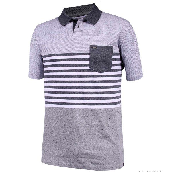 Camisa Polo Hurley Masculina - Cinza