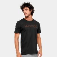 Camiseta Hurley Silk O&O Push Thru Masculina - Preto