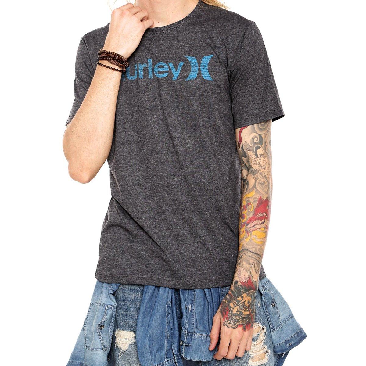 Camiseta Hurley Silk One E Only Masculina - Grafite
