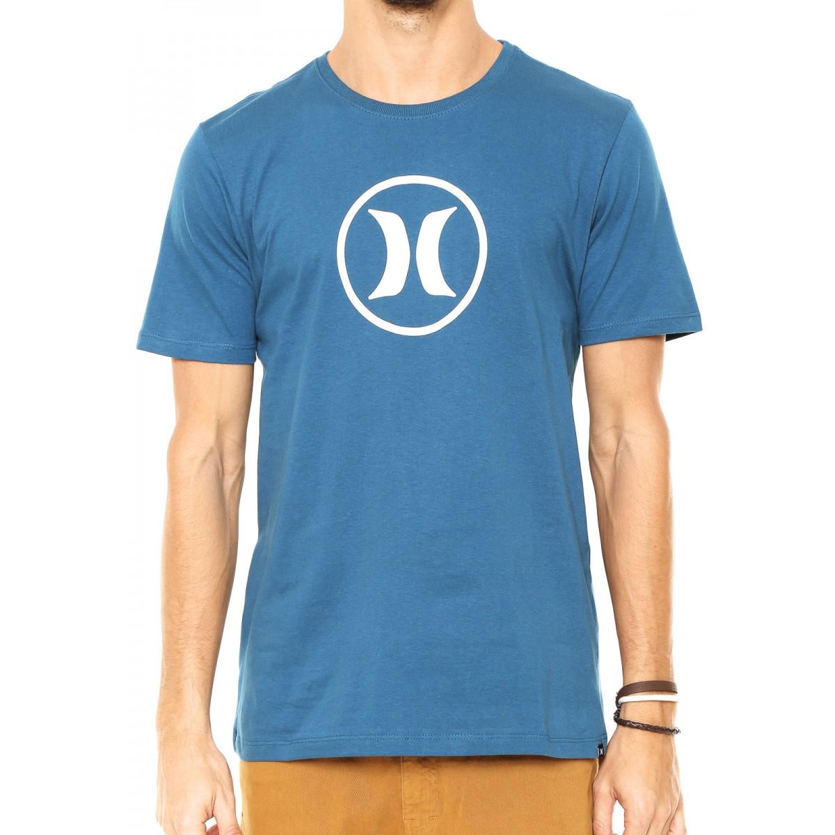 ... Camiseta Hurley Circle Icon Masculina - Azul ... a681b3c998c