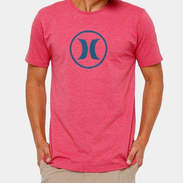 Camiseta Hurley Silk Circle Icon Masculina - Vermelho