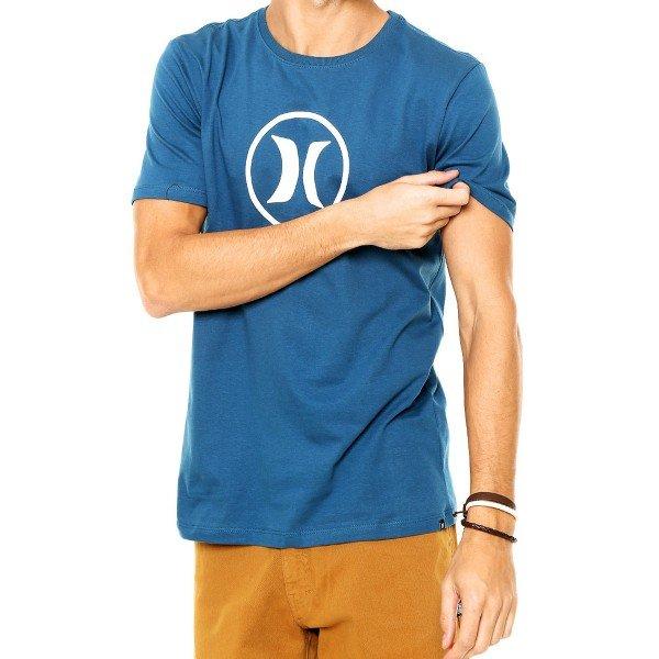 Camiseta Hurley Silk Circle Icon Masculina - Marinho
