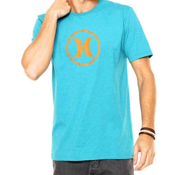 Camiseta Hurley Silk Circle Icon Masculina - Verde