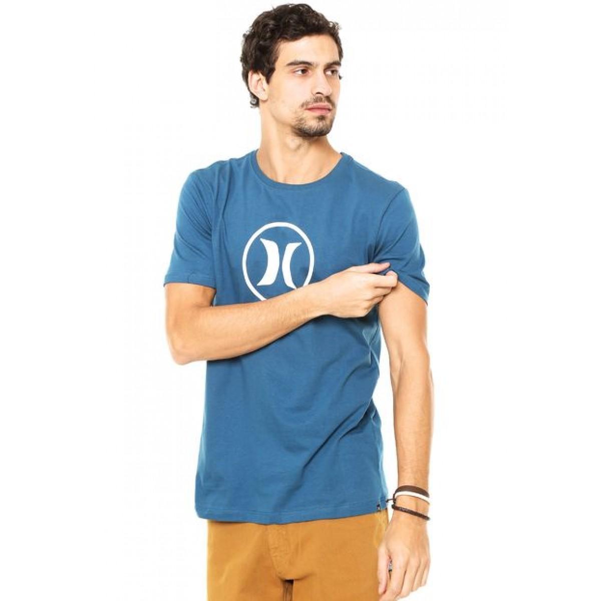 Camiseta Hurley Circle Icon Masculina - Azul