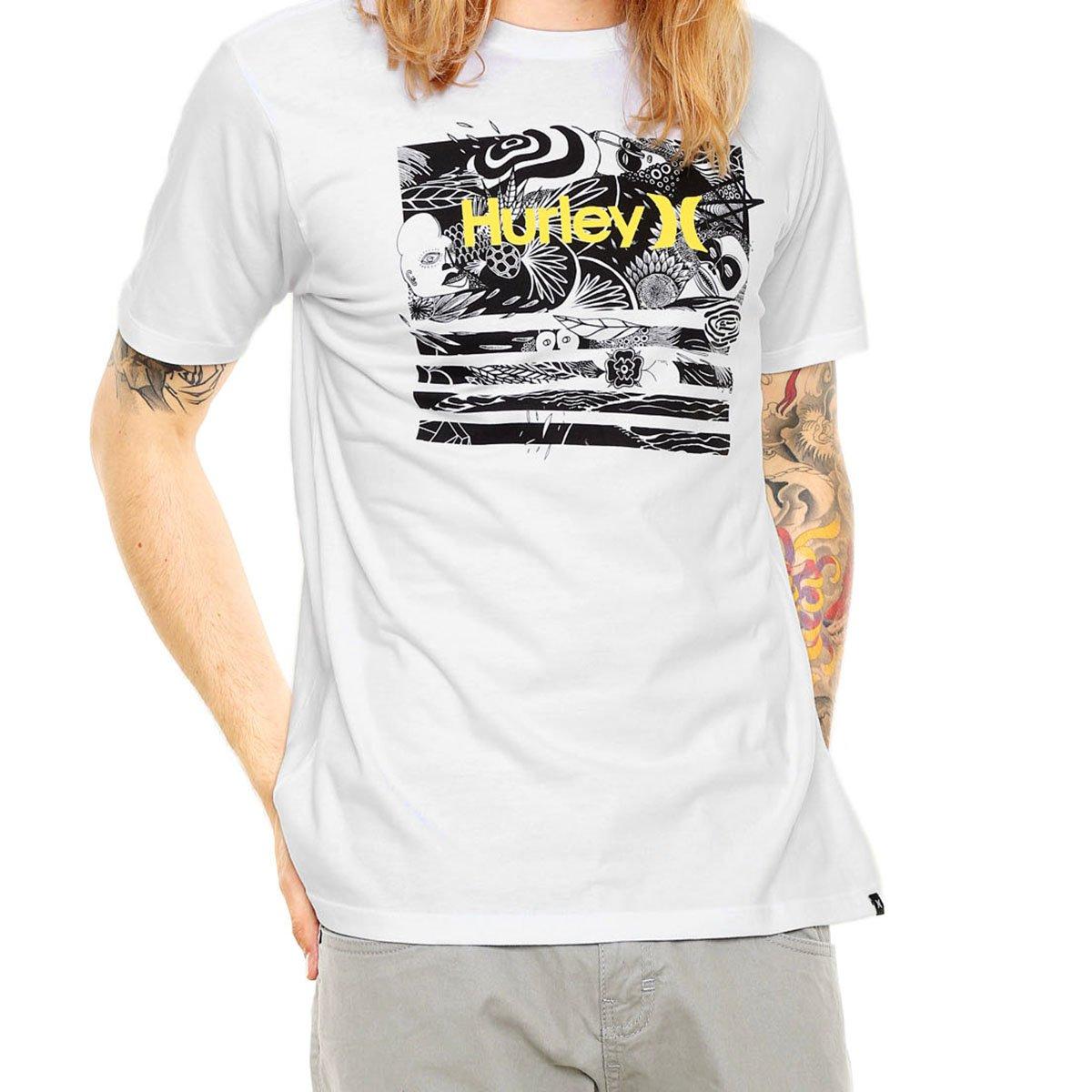 Camiseta Hurley Atmosphere Masculina - Branca