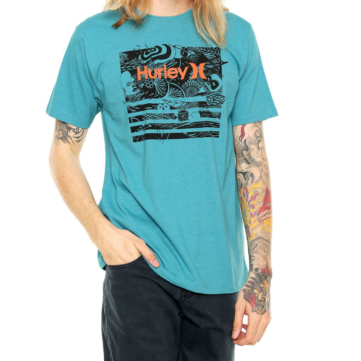 Camiseta Hurley Atmosphere Masculina - Azul