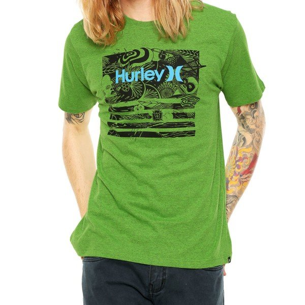 Camiseta Hurley Atmosphere Masculina - Verde