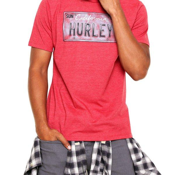 Camiseta Hurley Licence Plate Masculina - Vermelha
