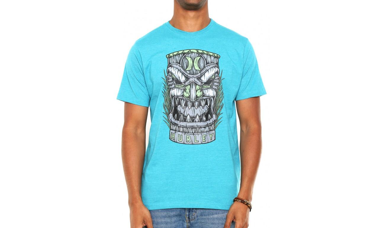 ... Camiseta Hurley Tiki Masculina - Azul ... 611573d0a83