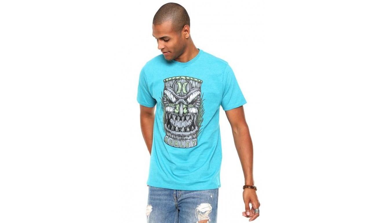 Camiseta Hurley Tiki Masculina - Azul ... 0e6bc6a3100