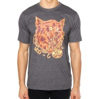 Camiseta Hurley Silk Wolf Masculina - Cinza