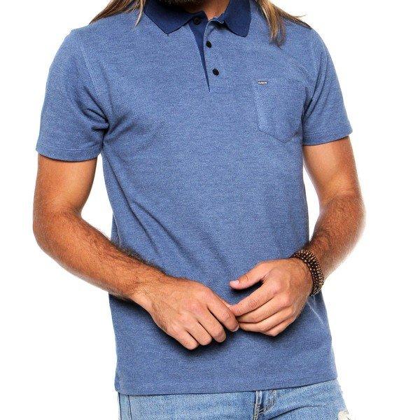Camisa Polo Hurley Compac Masculina - Azul