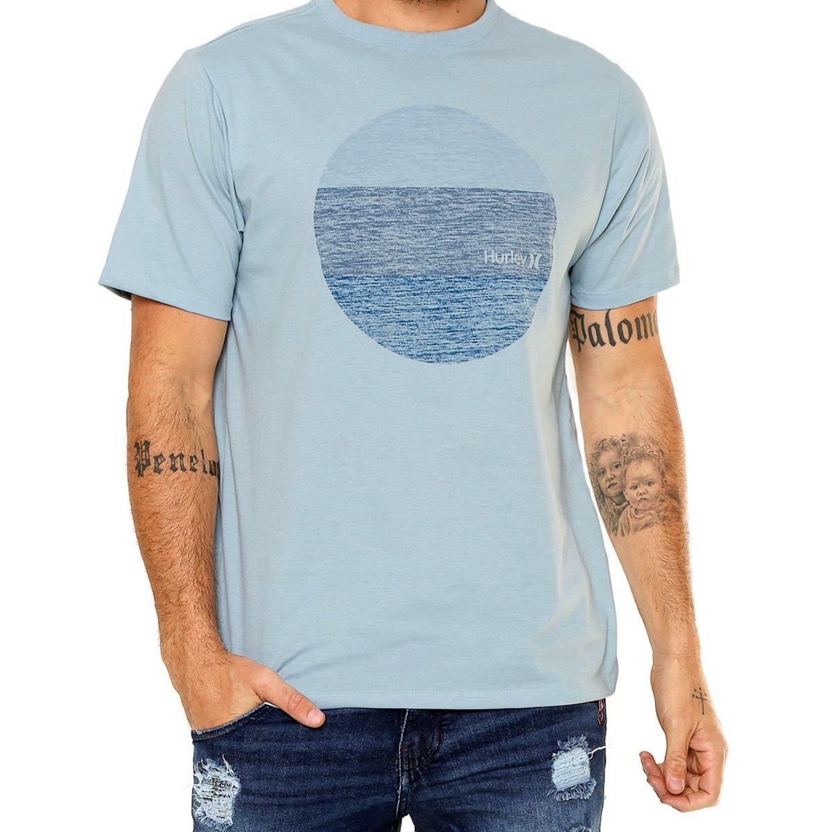Camiseta Hurley Silk Circular Masculina - Azul