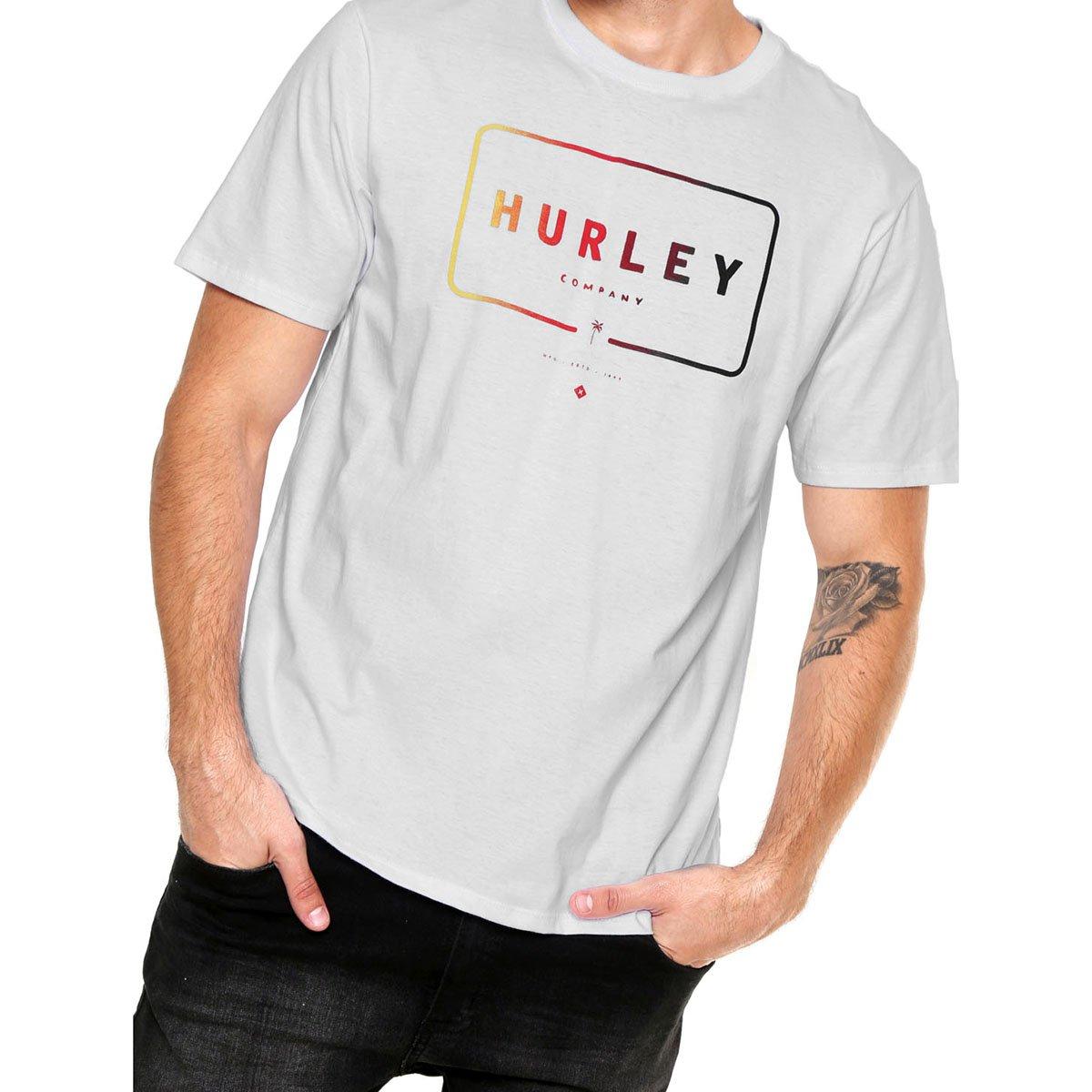 Camiseta Hurley Mixed Up Masculina - Branco