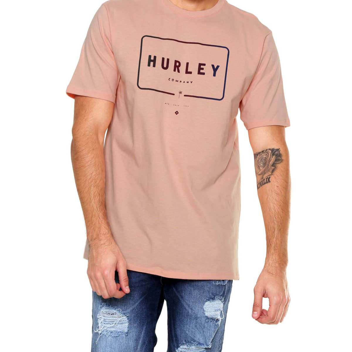 Camiseta Hurley Mixed Up Masculina - Coral
