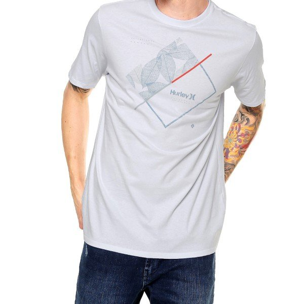 Camiseta Hurley Lines Masculina - Branca