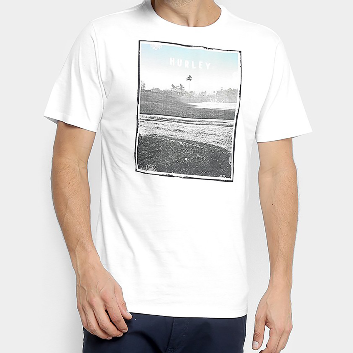 Camiseta Hurley Silk Sted Fast Masculina - Branco